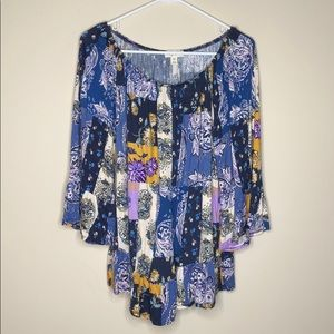 Style & Co loose fitting blouse bell sleeve XXL